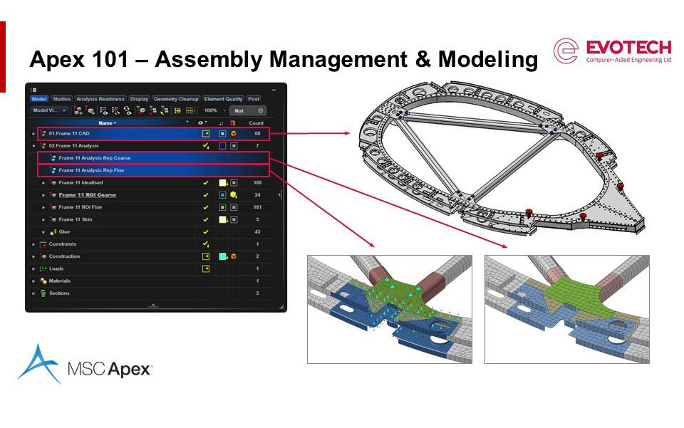 MSC Apex 101 for Aerospace Applications – Assembly Management and Modeling